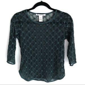 American Rag Lace 3/4 Sleeve Top